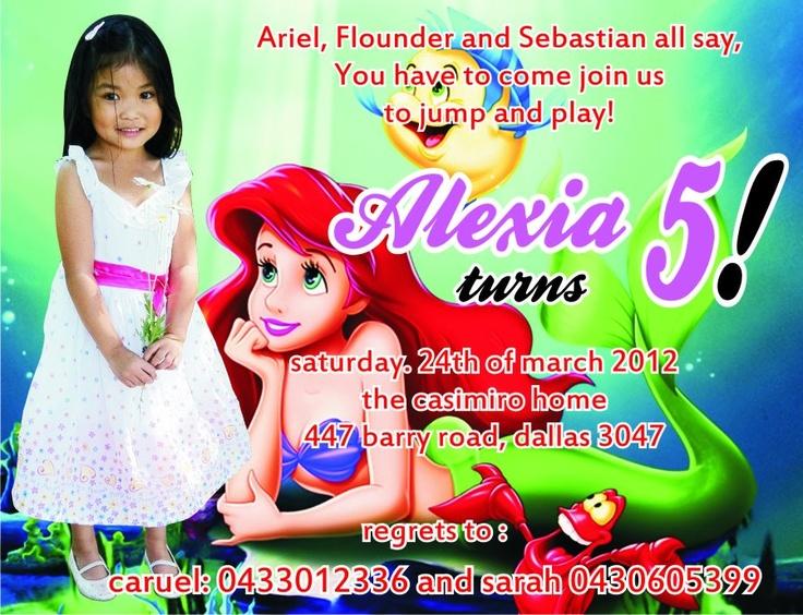 Alexia's 5th Birthday Invitation