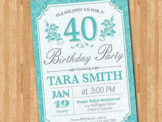 14 best Tiffanys Blue Birthday Party images – Tiffany Blue Birthday Invitations