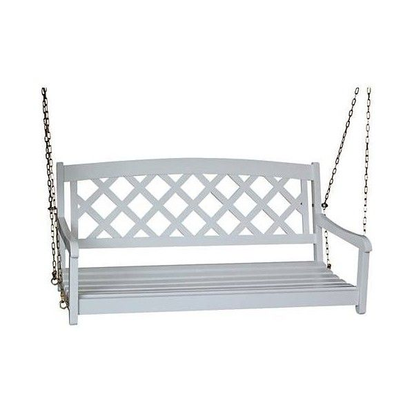 White X Back Porch Swing (335 CAD) ❤ Liked On Polyvore Featuring Home