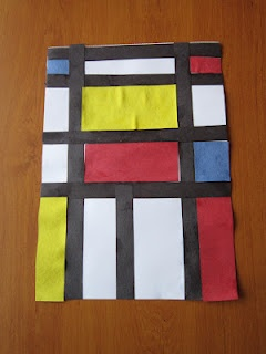 Piet Mondrian study (geometry and art). All the work is done here: videos, conversation starters, project