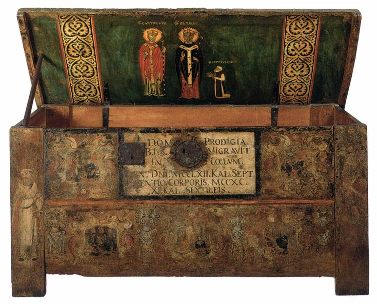 Casket of the Blessed Juliana 1290s Painted wood, 90 x 174 x 69 cm Museo Correr, Venice