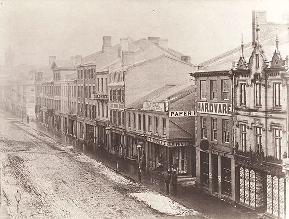 The earliest known photographs of Toronto are surely best known for the panorama of the fledging city taken by civil engineering firm Armstrong, Beere and Hime in 1856 atop the Rossin House Hotel at King and York streets....
