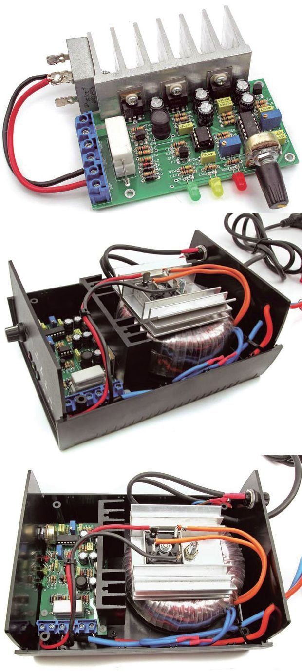 10AH 100AH Akü Şarj Devresi (1A-10A Ayarlı) – Elektronik Devreler Projeler