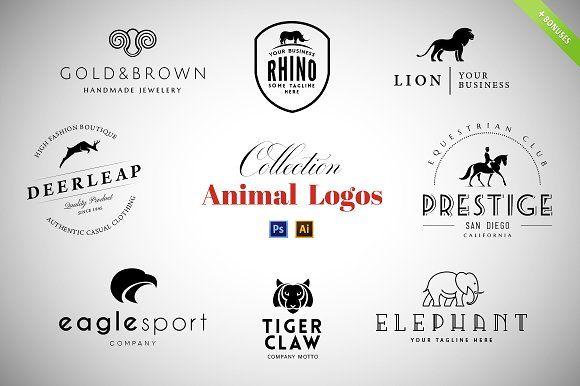 8 Animal Logos Set + Cool Bonuses by vatesdesign on @creativemarket