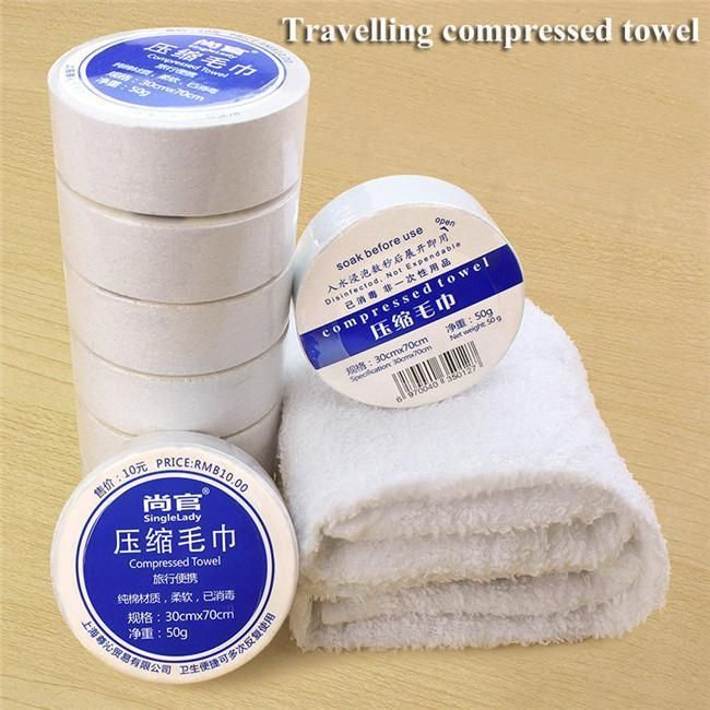 10pcs Magic Compressed Bath Face Travel Towels Washcloths Disposable Portable
