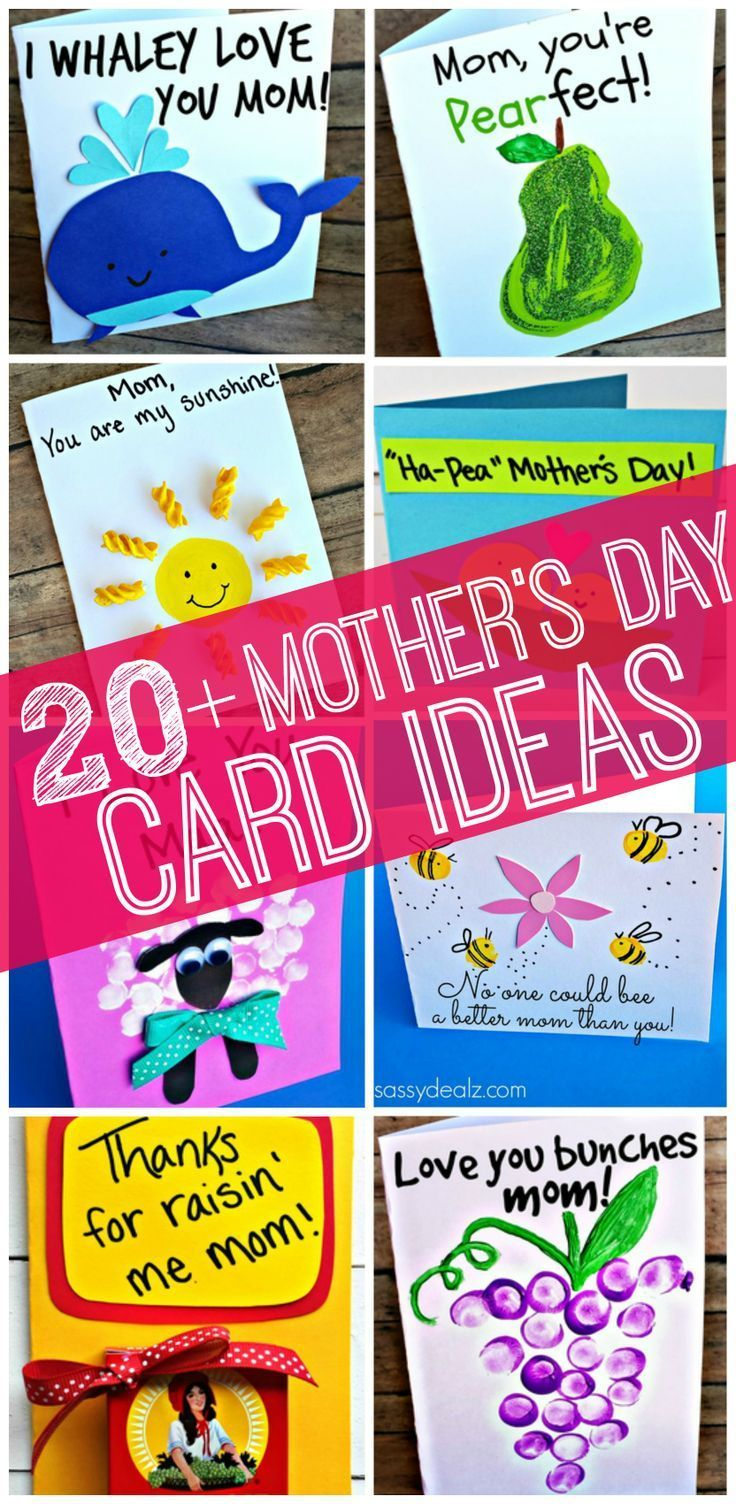 20 mother 39 s day card ideas for kids to make mothersday Good ideas for mothers day card