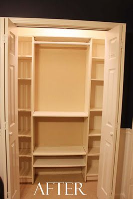 Southern Revivals: Our Under $100 Closet System - IKEA Hack. Billy bookshelf, $40. This could be used in so many of our closets!