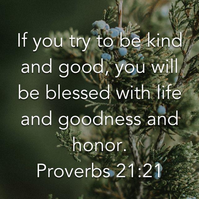 Always be kind.