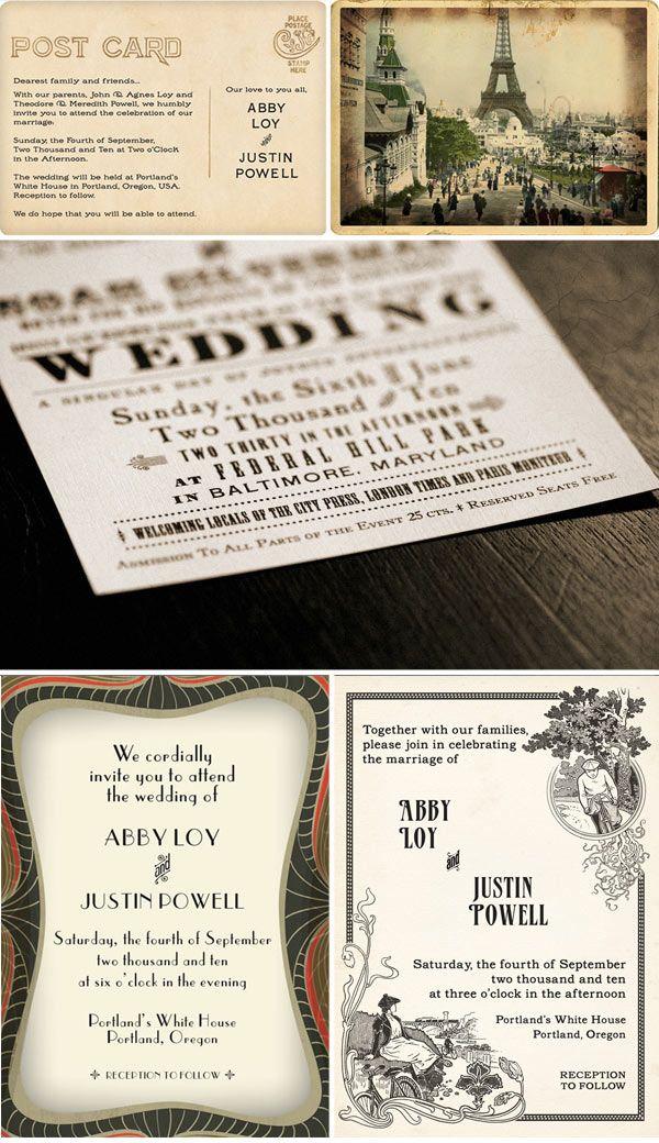 funny wedding invitation mail%0A Royal Steamline Wedding Invitations