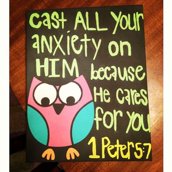 Bible verse canvas painting @Emma Zangs Zangs Zangs Fitzwater needs this