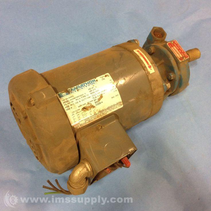 MARATHON ELECTRIC D392 INDUSTRIAL MOTOR 3/4HP 3450 RPM 60HZ