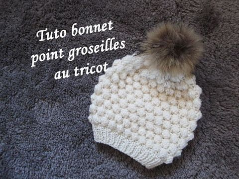 DIY TUTO APPRENDRE A TRICOTER UN BONNET CLOCHE A FLEUR STYLE CHARLESTON AU POINT DE MOUSSE FACILE ! - YouTube