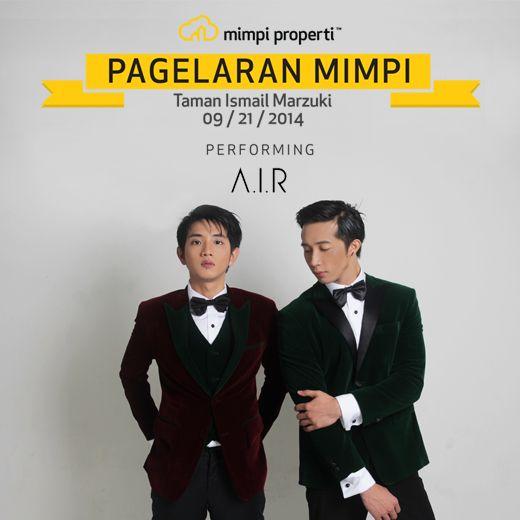 "Live Musik Performance dari #AIR  akan meramaikan ""Pagelaran Mimpi"" di Taman Ismail Marzuki pada 21 September 2014"