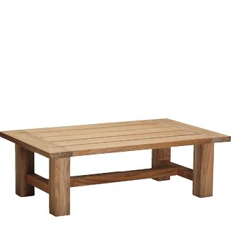 """Harvest Teak Coffee Table BY CASUALIFE D 50"""" W 30"""" H 16""""  Natural Teak"""