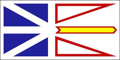 The official flag of Newfoundland and Labrador