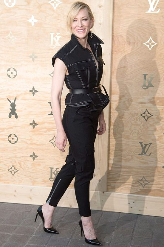 """Cate Blanchett attends the """"Louis Vuitton Masters: a collaboration with Jeff Koons"""" dinner at the Louvre Museum in Paris, France."""