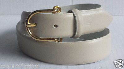 #accessories women sale WCM New York women Italian Calfskin leather white belt size M (size 30) withing our EBAY store at  http://stores.ebay.com/esquirestore