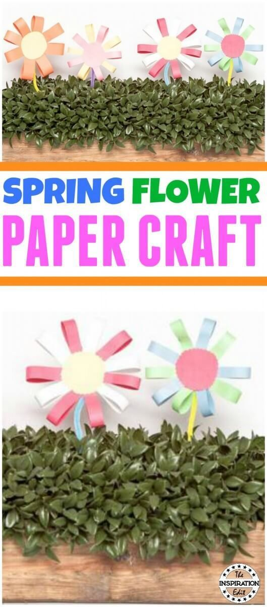 Easy Spring Paper Flower Craft For Kids Spring Crafts And