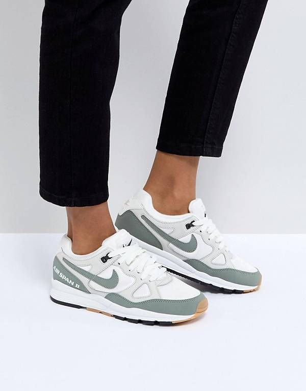 superior quality 71d71 4d16d Nike Air Span Ii Trainers In White And Khaki