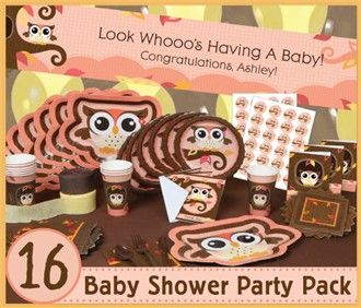 Owl party theme for an October baby shower!