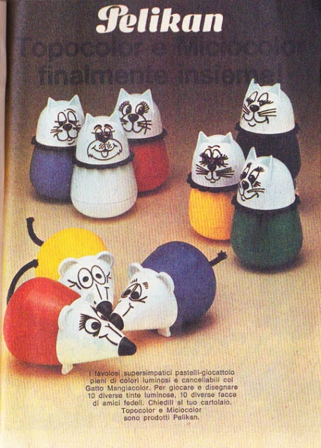 Topocolor e Miciocolor Pelikan. Avevo il topo giallo, bellissimo....