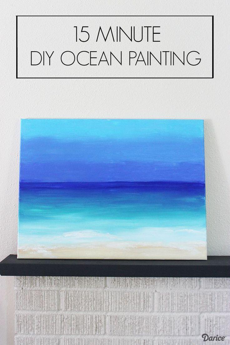 DIY Painting 15 Minute Ocean Scene