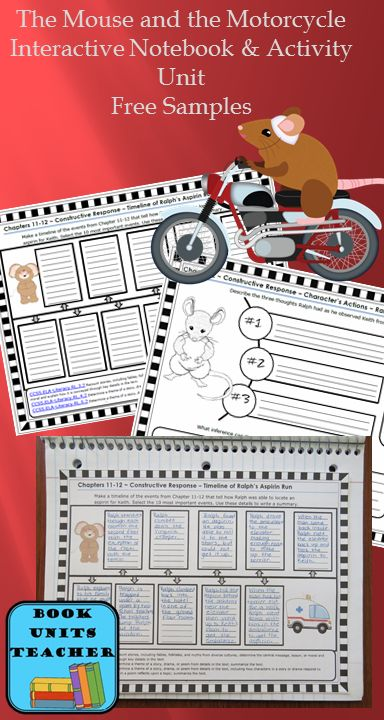 Teaching The Mouse and the Motorcycle » Book Units Teacher