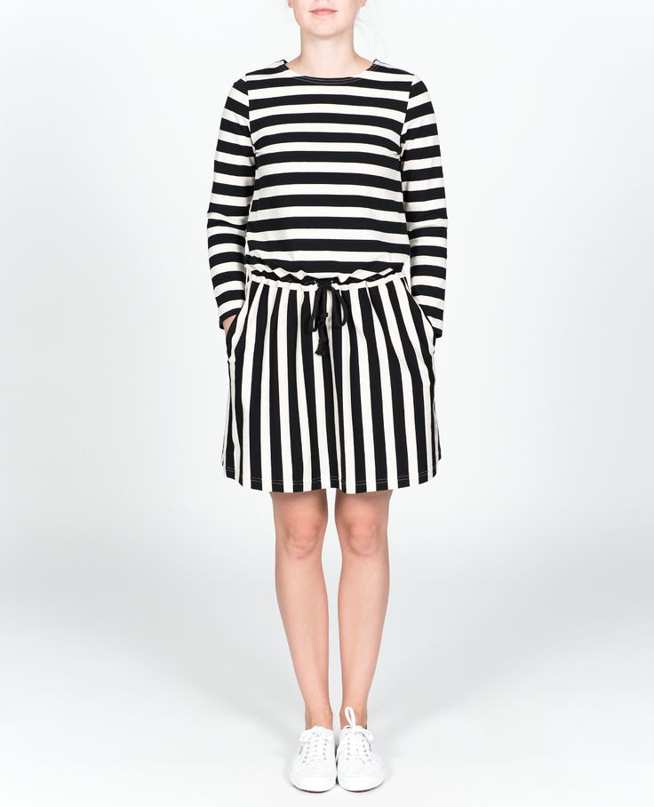 R-Collection Stripe dress