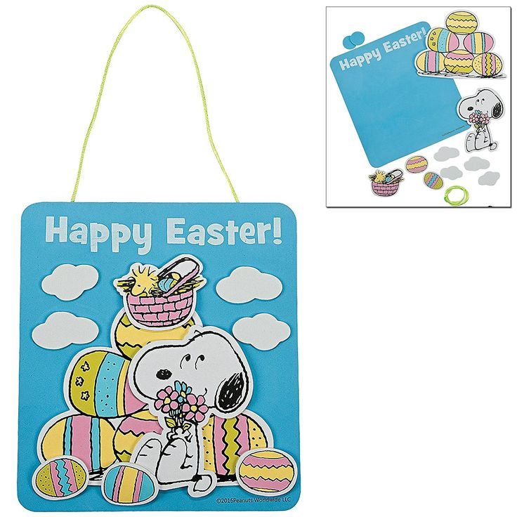 75 best easter craft kits for kids images on pinterest crafts amazon easter craft kit peanuts snoopy easter decor sign easter magnetic eggs easter picture frame easter treat bags for kids diy summer toys negle Images