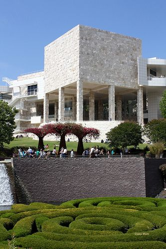 The J.Paul Getty Museum, Getty Center, Los Angeles, CA Free entry, $15 Parking. Getty Center Cafe outside has great views.