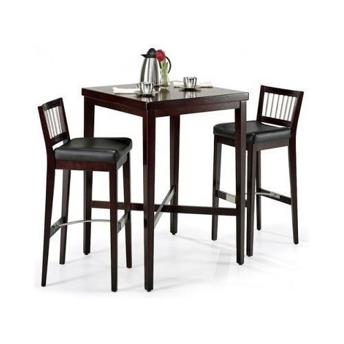 Product Description The Dark Cherry Wood Pub Table Is A Small But Elegant  Piece Of Functional