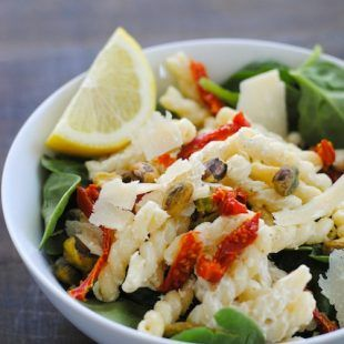 Creamy Lemon Pasta Salad with Spinach Recipe on Yummly. @yummly #recipe