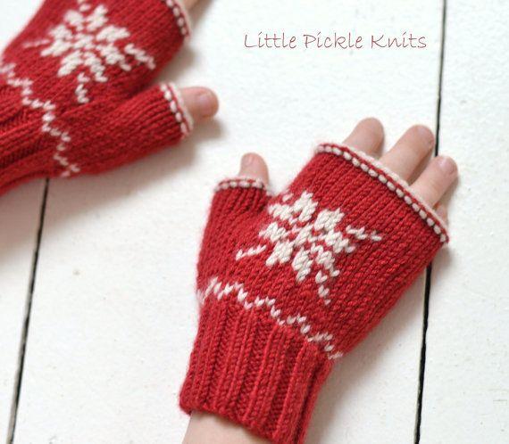 PDF KNITTING PATTERNS fingerless mittens by littlepickleknits