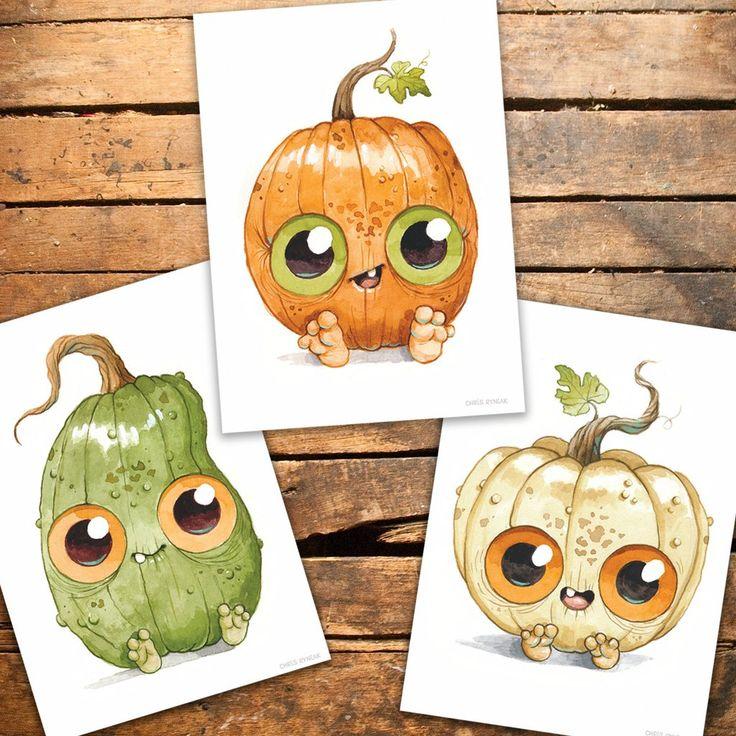 Pumpkin Kids Postcard Set