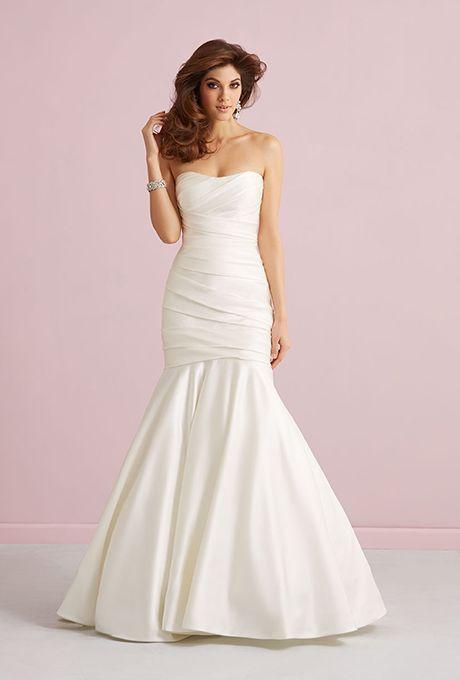 Brides: Allure Romance. Style 2752F, mermaid wedding gown, priced around $618 , Allure Romance