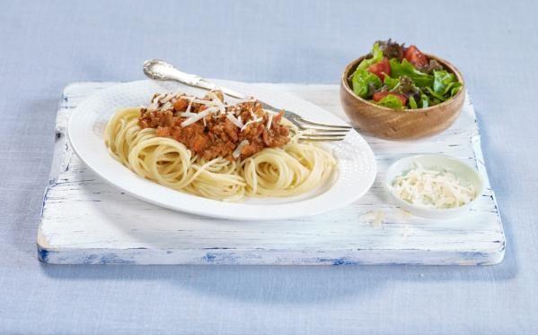 Oppskrift på Spagetti bolognese, foto: