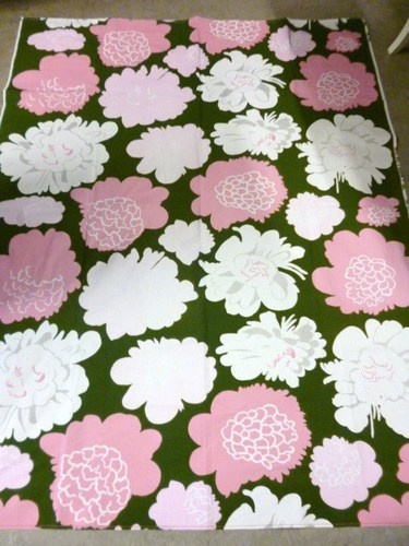 "Marimekko Finland Maija Isola ""Pioni"" Original Vintage Fabric Floral 70'S | eBay"