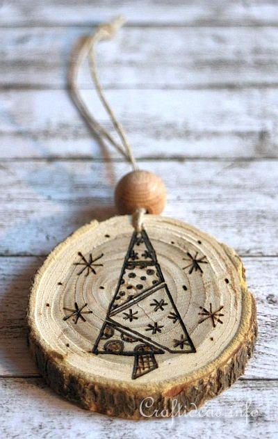 Wood Burned Christmas Ornaments 5