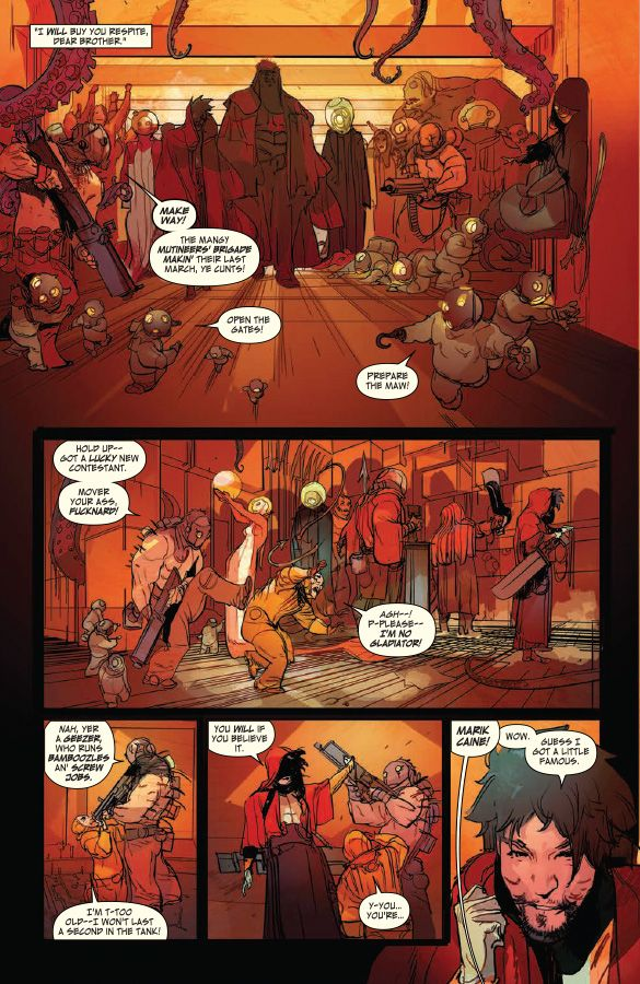 Preview: Low #5,  Story: Rick Remender Art: Greg Tocchini Cover: Greg Tocchini Imprint: Image Comics Cover: $3.50 Street Date: December 3, 2014  Stel infiltrat..., http://all-comic.com/2014/preview-low-5/,  #GregTocchini #Image #ImageComics #Low #Preview #RickRemender See More: http://all-comic.com/2014/preview-low-5/