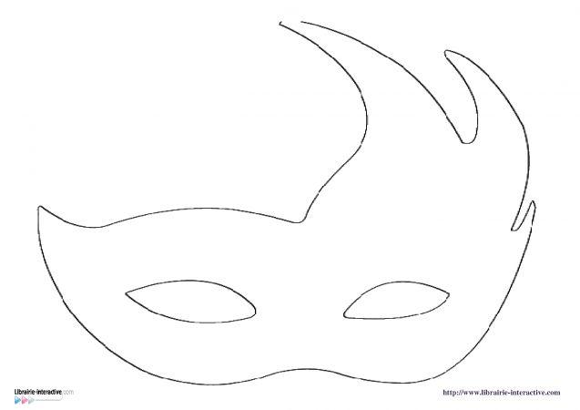 différents modèles de masques pour le carnaval à télécharger gratuitement