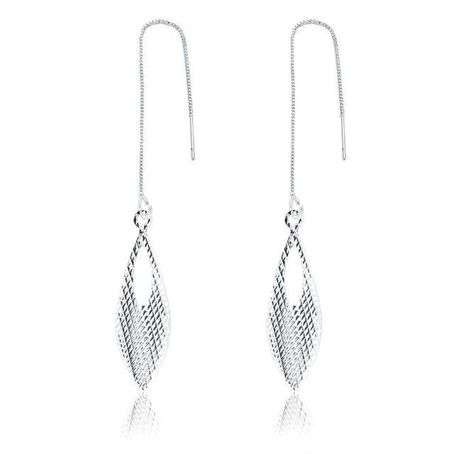 Yueyin Neue 925 Sterling Silber Ohrstecker Fashion Ohrring Für Frauen Trendy Romantische Ohrringe Einfache Geometrische Hochzeit Schmuck E915