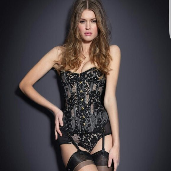 NWT Agent Provocateur Janey Black Lace Corset Sz 1 Agent Provocateur Janey Black Lace Corset  Size 1 XXS Brand New With Tags   Super sexy high end lingerie. Brand new never used. Agent Provocateur  Intimates & Sleepwear