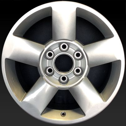 "Nissan Titan wheels for sale 2004-2010. 18"" Silver rims 62438 - http://www.rtwwheels.com/store/shop/18-nissan-titan-wheels-for-sale-silver-62438/"