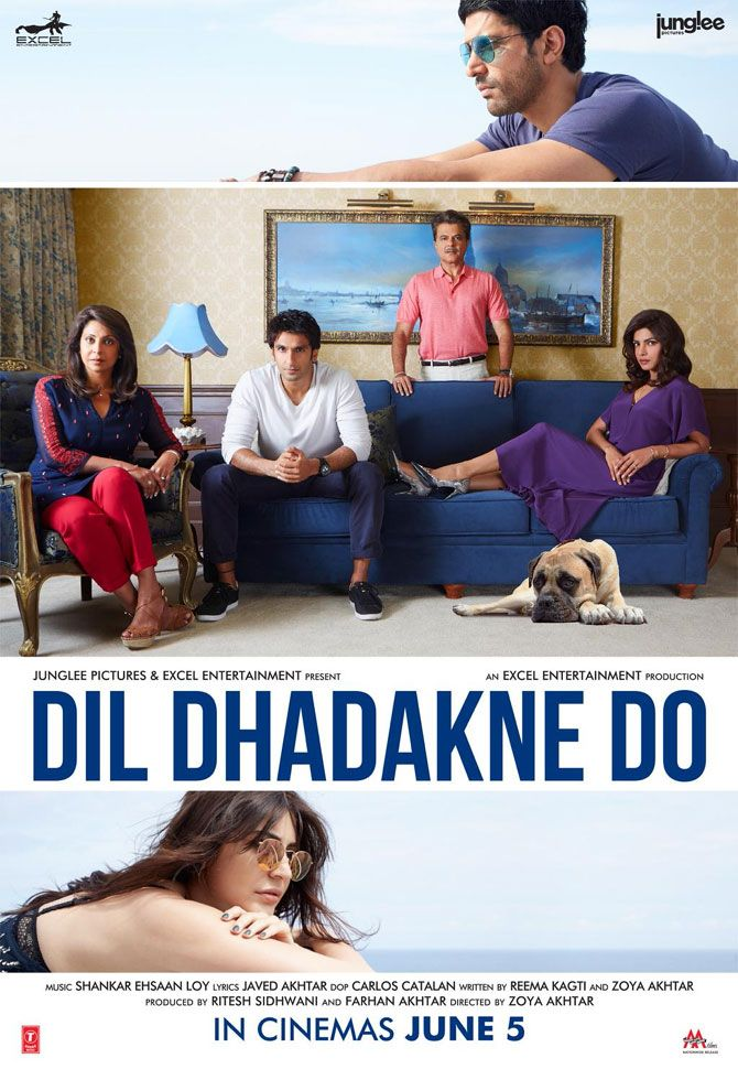 'Dil Dhadakne Do' poster #Bollywood #Movies #DilDhadakneDo