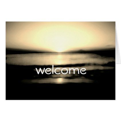 #wedding #thankyoucards - #Welcome You All Beach Sunrise Wedding Card