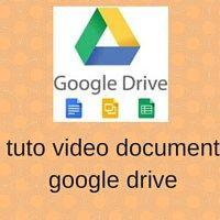 #Tuto #video #document google drive présente comment créer des textes, des feuilles de calculs, des présentations, des dessins facilement dans l'espace du #cloud #google #drive de 15 Go offerts . Les fichiers enregistrés au format google ne sont pas comptabilisés dans le volume autorisé.