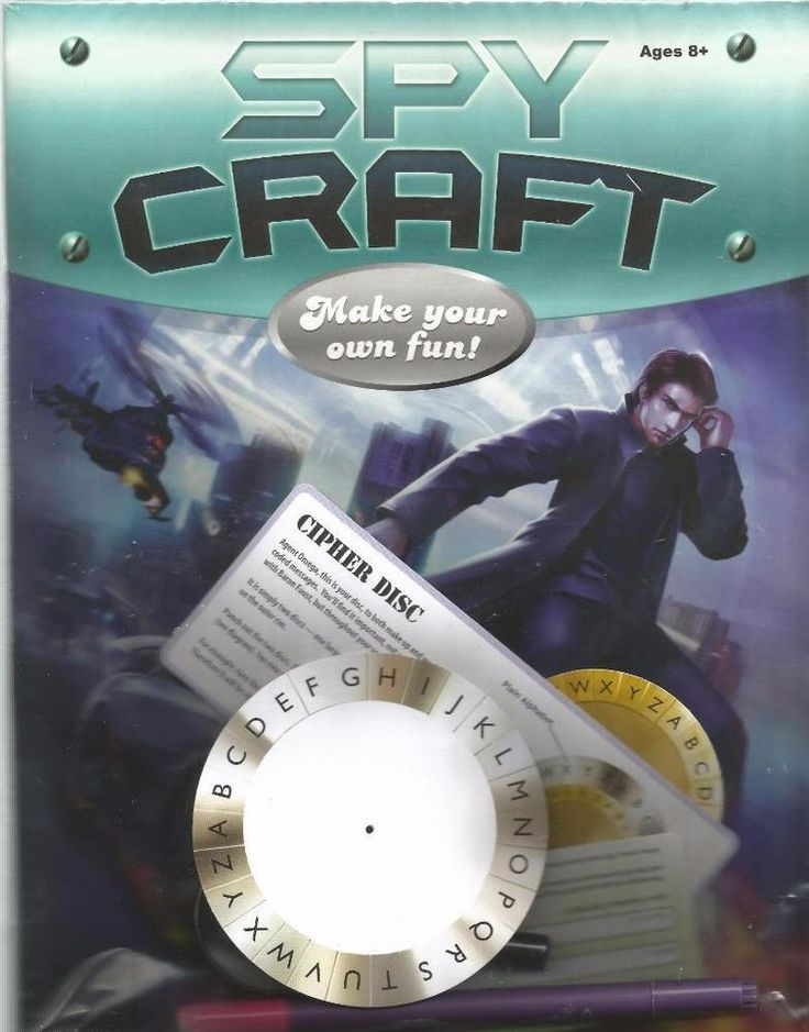 Spy Craft - Make Your Own Fun - Activity Book Pack with Spy Pen & Magnify  - NEW