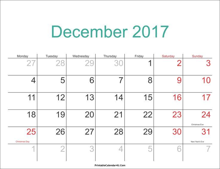 Best December  Calendar Images On   December