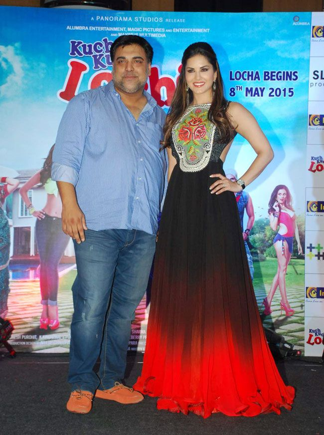 Ram Kapoor and Sunny Leone at the first look launch of 'Kuch Kuch Locha Hai'. #Bollywood #Fashion #Style #Beauty