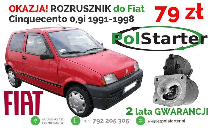 ⚫ FIAT Cinquecento był produkowany tylko w POLSCE w Tychach! Jeździsz takim? Ten ROZRUSZNIK będzie pasował do Twojego auta! ⚫ Aukcje w serwisie allegro ➜ http://allegro.pl/listing/user/listing.php?us_id=22287661&order=m ➜ http://allegro.pl/listing/user/listing.php?us_id=26261890&order=m ⚫ Odwiedź także naszą stronę i sklep internetowy: ➜ www.polstarter.pl ➜ www.sklep.polstarter.pl ⚫ KONTAKT 📲 792 205 305 ✉ allegro@polstarter.pl #rozrusznik #rozruszniki #alternator #alternatory…